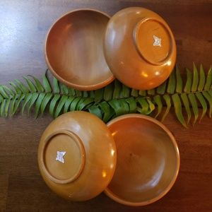 Enesco Imported Lacquered Wooden Bowls Taiwan